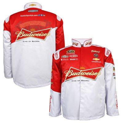 kevin harvick jacket, kevin harvick big and tall jacket, 3xl 4xl 5xl 6xl kevin harvick jacket, harvick budweiser jacket