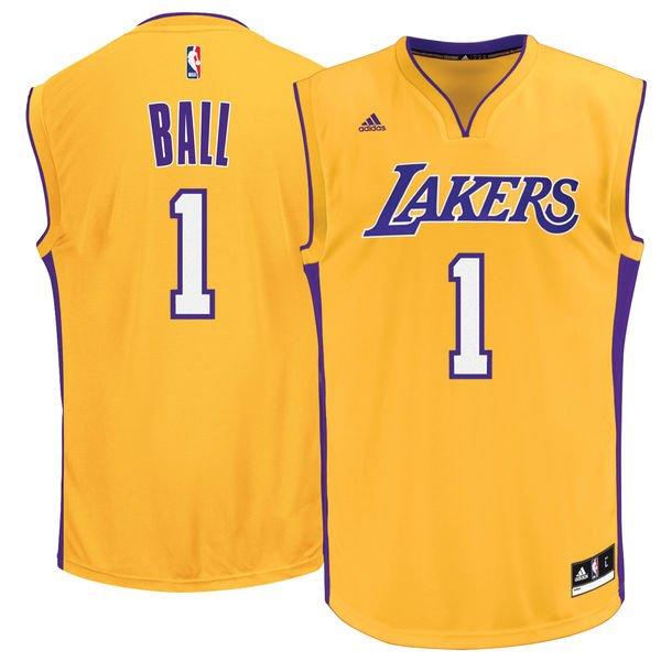 LA Lakers Lonzo Ball Jerseys S-XL 2X 3X (3XL) 4X (4XL), 5X (5XL ...